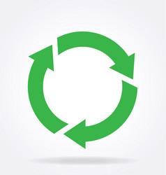 Round circle recycle logo vector