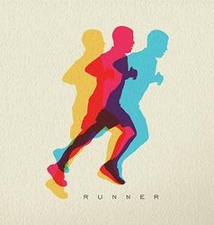 Runner sport man silhouette concept design vector