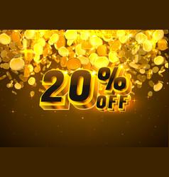 Sale 20 off banner promotion discount flyer big vector