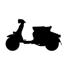 Scooter silhouette vector