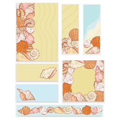sea shell set templates vector image