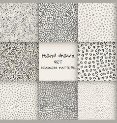seamless set hand drawn marker vector image