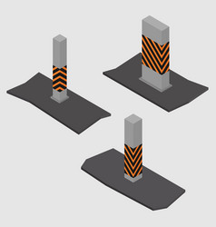 Set of concrete columns and pillars vector