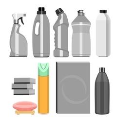 Set of household chemistry vector