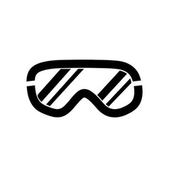 Ski goggles icon on white background vector image