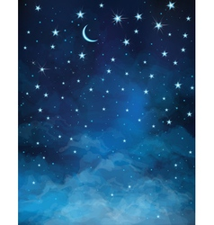 sky night vector image