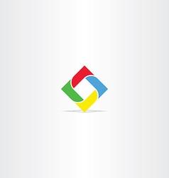 Square in square business logo icon vector