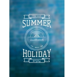 summer holiday label logo on background vector image