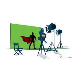 superhero movie set vector image