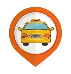 Taxi service pin map icon design vector
