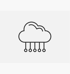 technology icon cloud computing connection big vector image