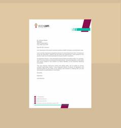 Textural letterhead in plum tone vector