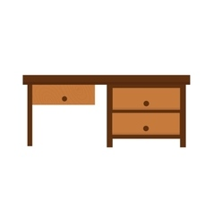 Wood table furniture vector image