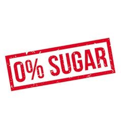 Zero percent sugar rubber stamp vector