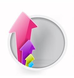 abstract arrows raising vector image vector image