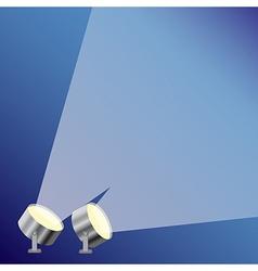 Bright spotlight vector image