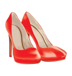 red shoes patent leather vector image