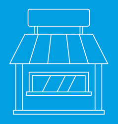 shop icon outline style vector image
