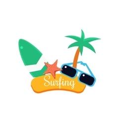 Surfing summer vacation vector
