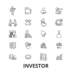 investor investment business stock market vector image vector image