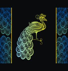 peacock vector image vector image