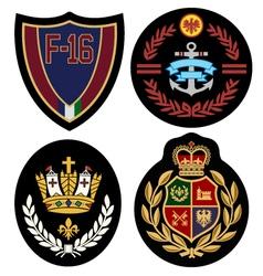 royal badge design set vector image vector image