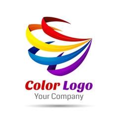 Colorful 3d Volume Logo Design Icon Concept vector image vector image