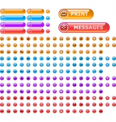 holed buttons icons vector image