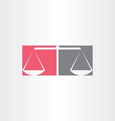 scales of justice symbol design vector image