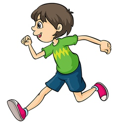 A boy vector image