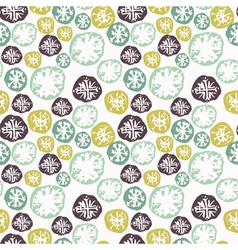 Abstract grunge seamless pattern with snowflakes vector image vector image