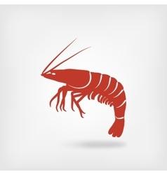 shrimp seafood logo vector image