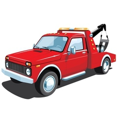 tow truck vector image vector image