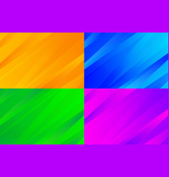 Abstract gradient orange blue green and red tech vector