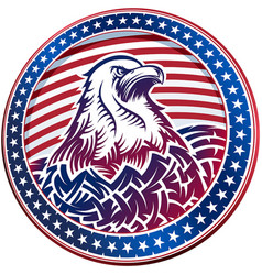 American bald eagle usa natioal symbol fourth vector