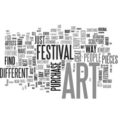 Art make it your next investment text word cloud vector