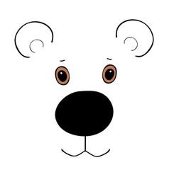 Bear cute funny cartoon head vector