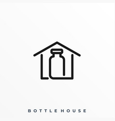 bottle house template vector image