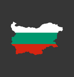bulgaria flag and map vector image