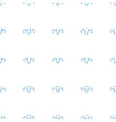 Bull skull icon pattern seamless white background vector