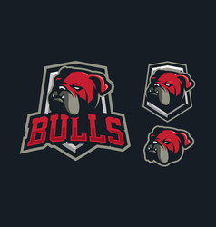 Bulldog mascot logo design vector