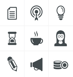 Business Icons Set Design vector image