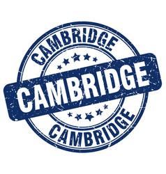Cambridge blue grunge round vintage rubber stamp vector