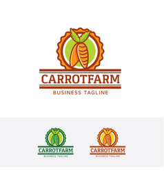 carrot farm logo design vector image