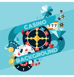casino gambling background vector image