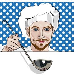 Chef offers to come to dinner vector