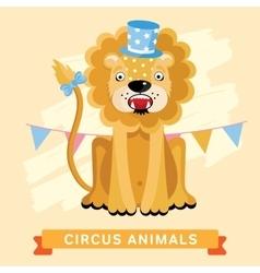 Circus Lion animal series vector