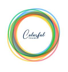 colorful circle frames set background vector image
