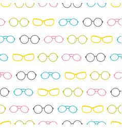 Colorful glasses accessories stripes vector