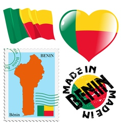 Colours of Benin vector